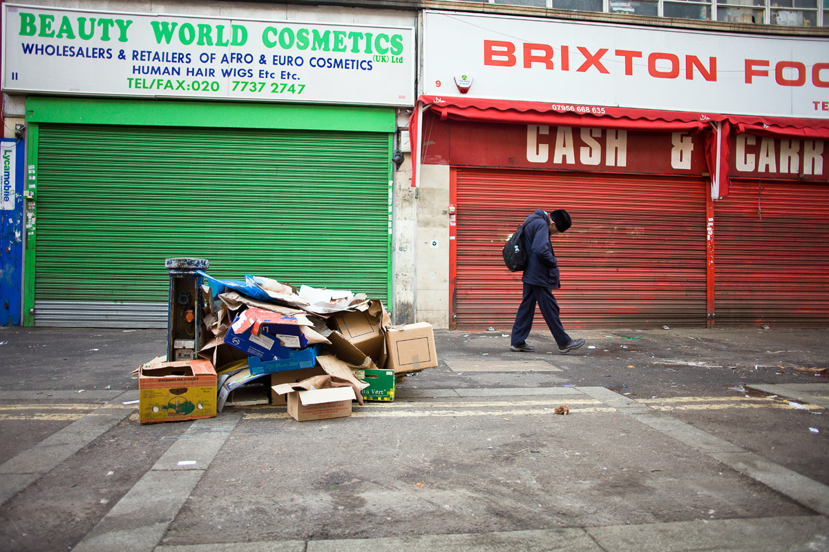 Brixton Market, before the after